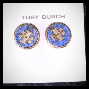 Tory Burch Blue Lapis Earrings